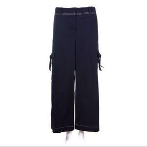 ANN TAYLOR Blue Wide Leg Crop Pant Size 6